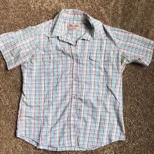 Wrangler snap button down western short sleeve